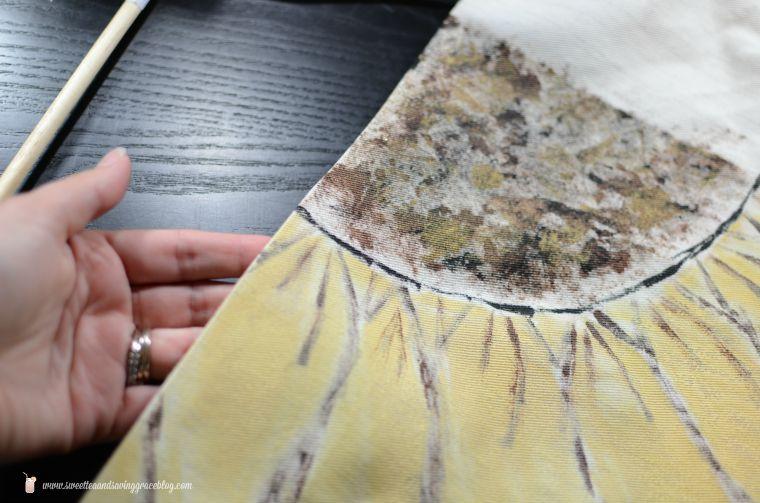 DIY Drop Cloth Fall Door Hanging  |  Sweet Tea & Saving Grace