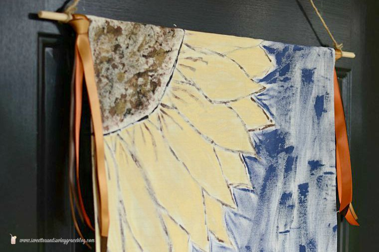 DIY Drop Cloth Fall Door Hanging
