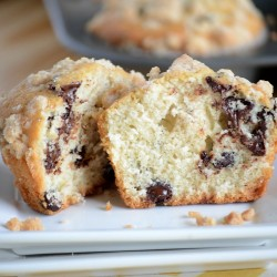 A close up of Chocolate Chip Muffins