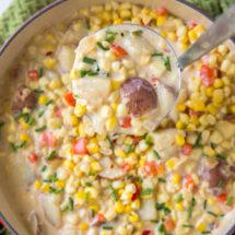 A close up of Corn Chowder