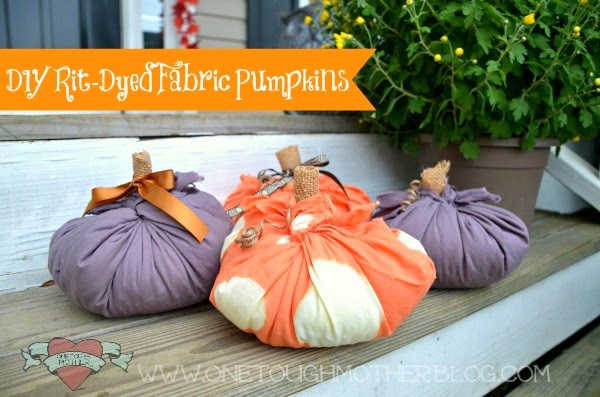 Social media image of Dyed Fabric Pumpkins