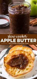 Social media image of slow cooker apple butter