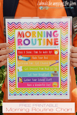 Printable morning routine chart