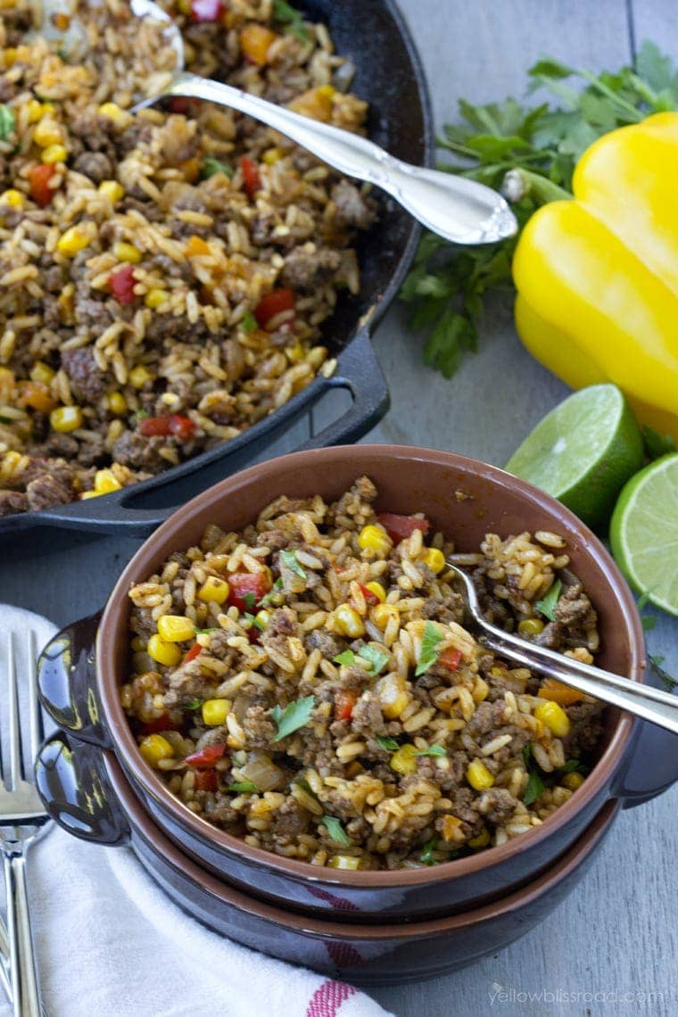 15 Minute One Tex Mex Rice Skillet