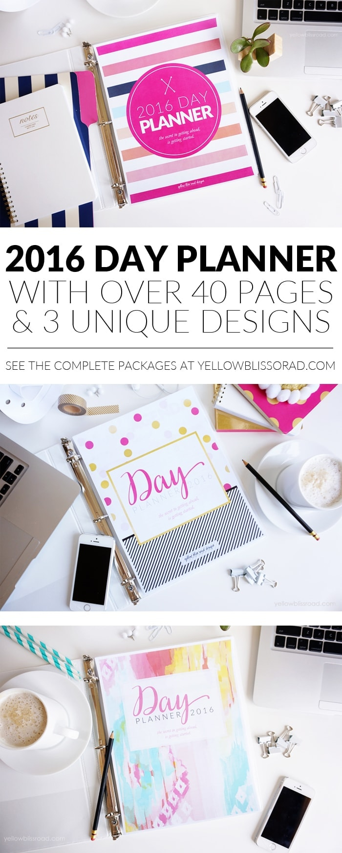 2016 Day Planners from Yellow Bliss Road