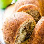 A close up of Cinnamon Apple Bundt Cake