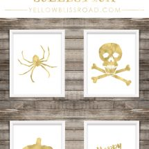Gold Halloween Free Printable Collection