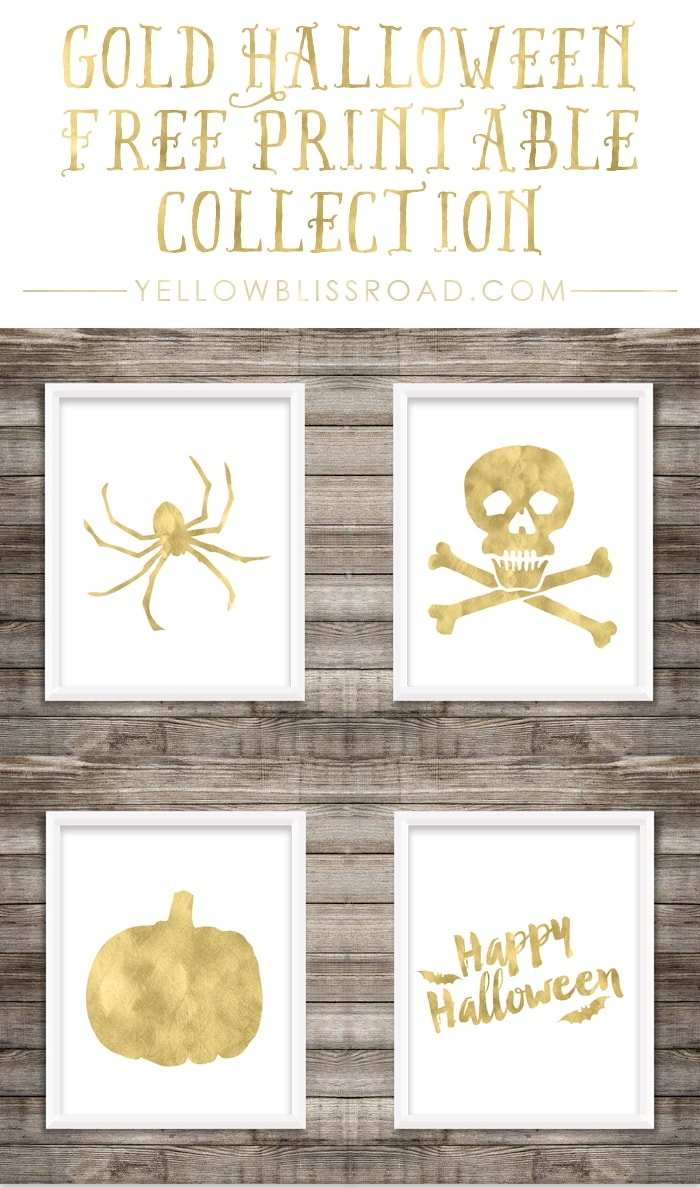 Free Printable Gold Halloween Collection