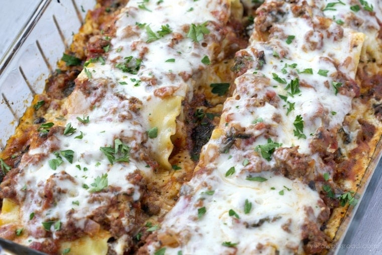 Lasagna Roll-Ups with Hidden Veggie Meat Sauce