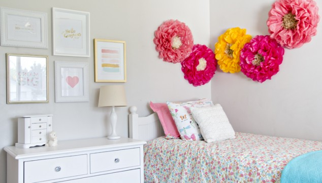 Pretty Little Girl's Bedroom Makeover