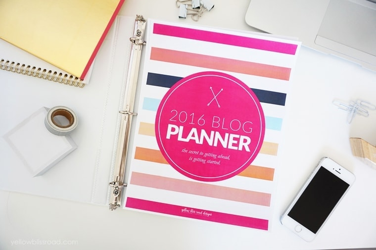 ALL NEW ~ 2016 Blog Planners, Day Planners and Menu Planners