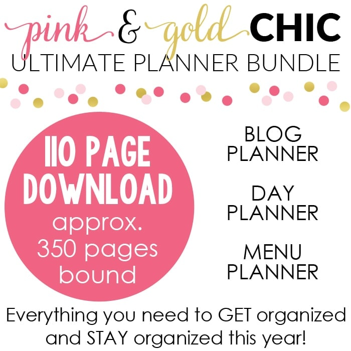 Pink & Chic Ultimate Planner Square Graphic