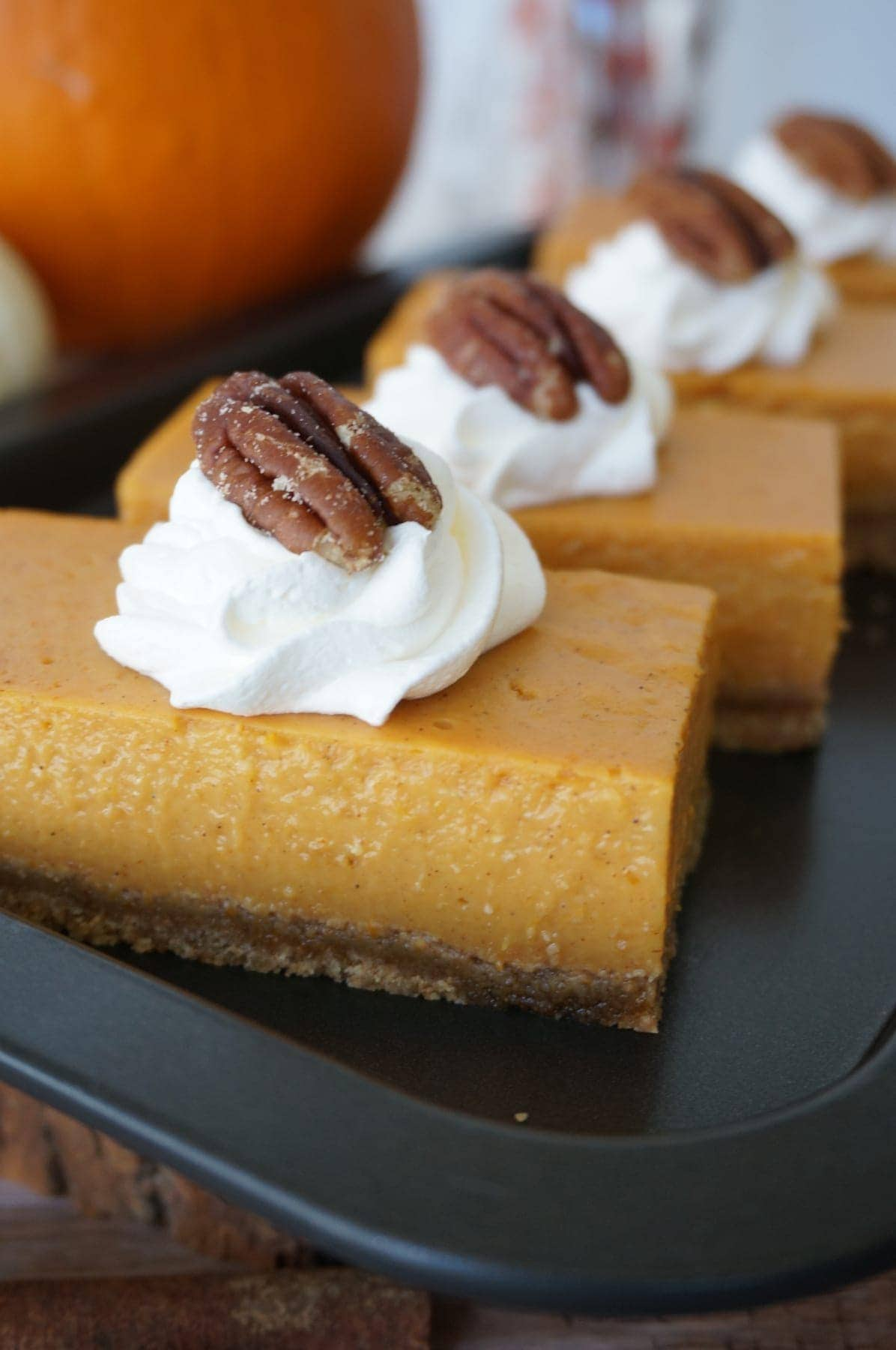 No-Bake, Pumpkin Pie Bars