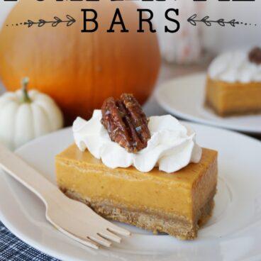 Social media image of Pumpkin Pie Bars