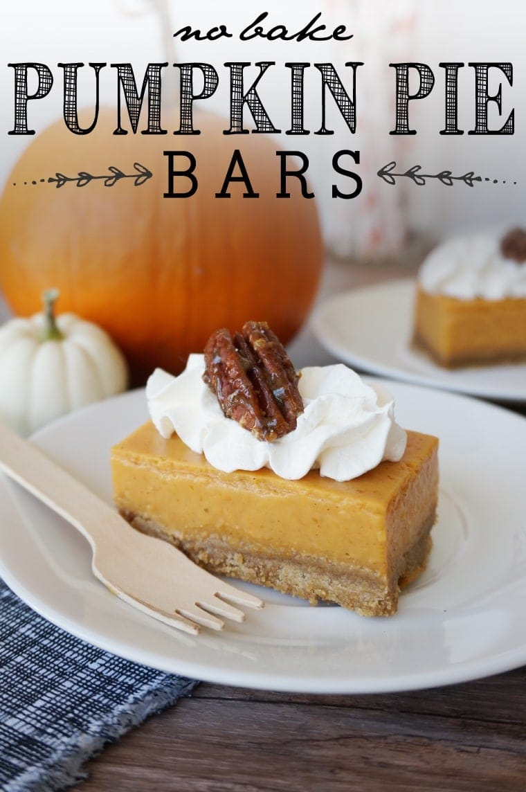 No Bake, Pumpkin Pie Bars