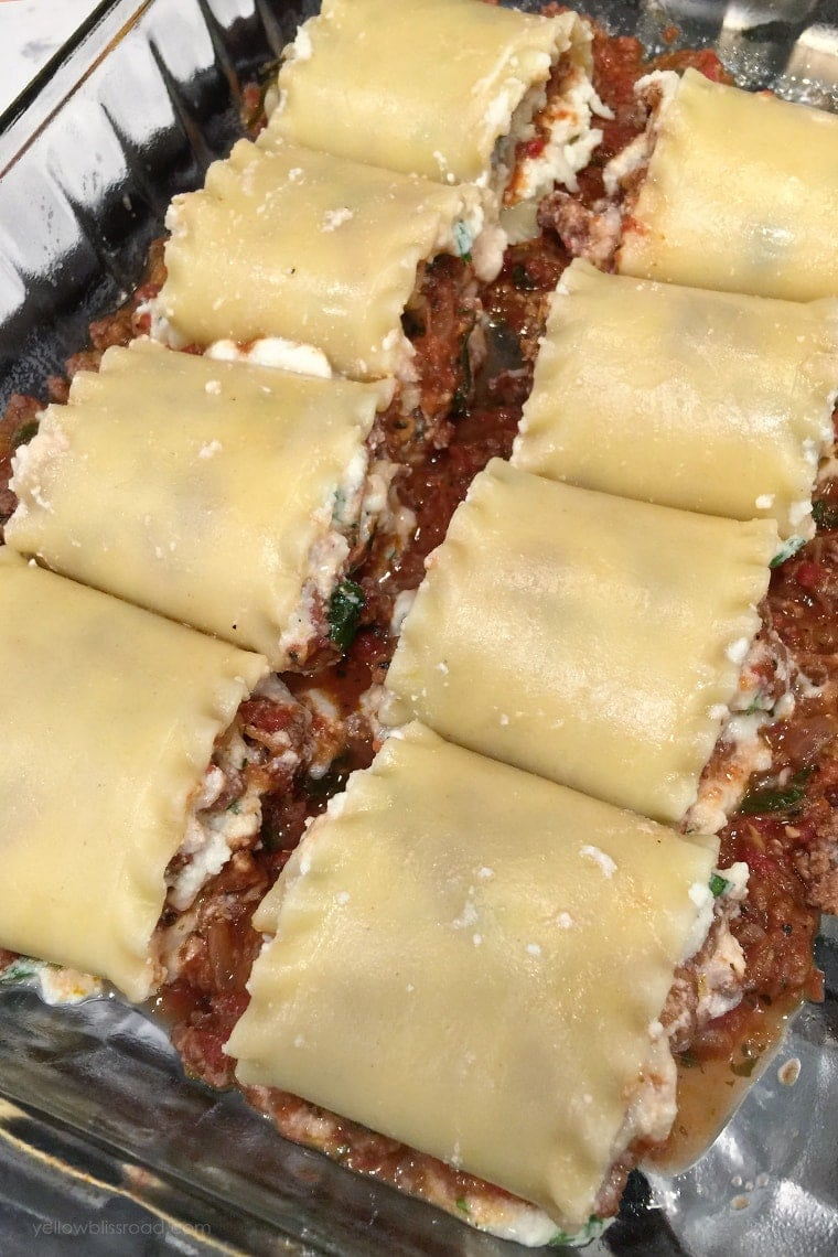Rolled Up Lasagna