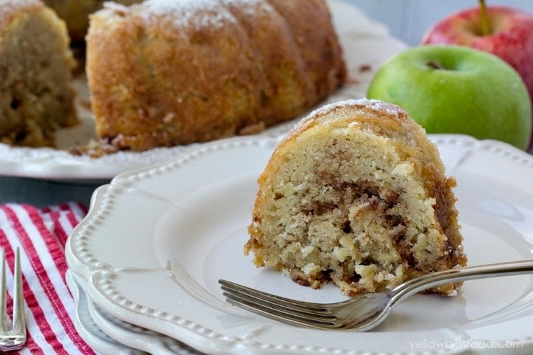 Slice of Apple Cinnamon Cake