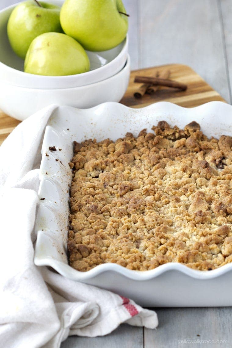 Snickerdoodle Apple Cobbler with cookie topping.