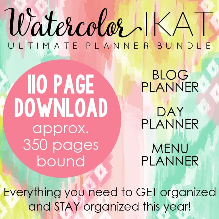 Watercolor IKAT Ultimate Planner Square Graphic