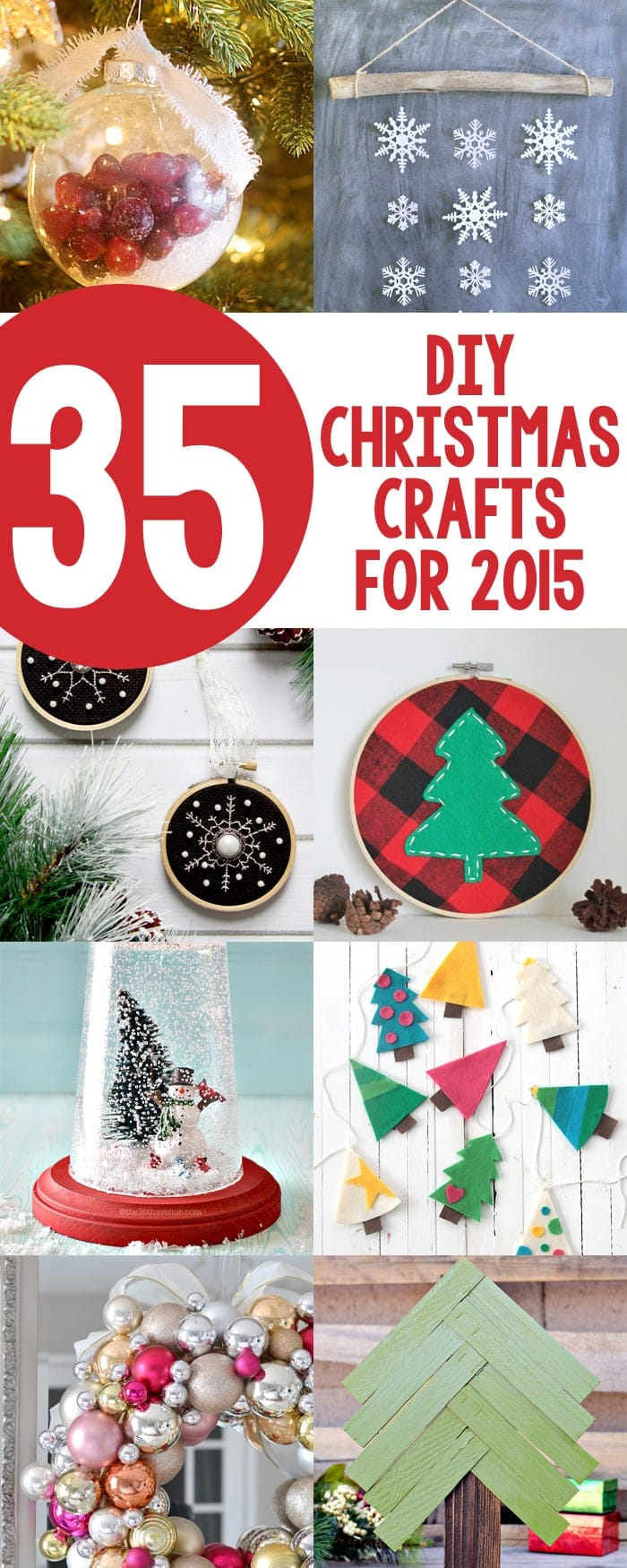35 diy christmas crafts for 2015 new christmas projects from the past year
