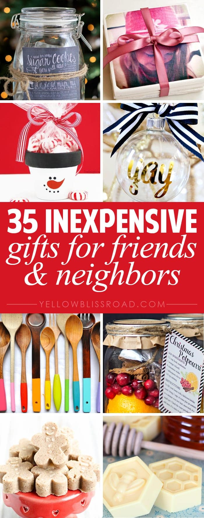 35 inexpensive gifts for friends neighbors