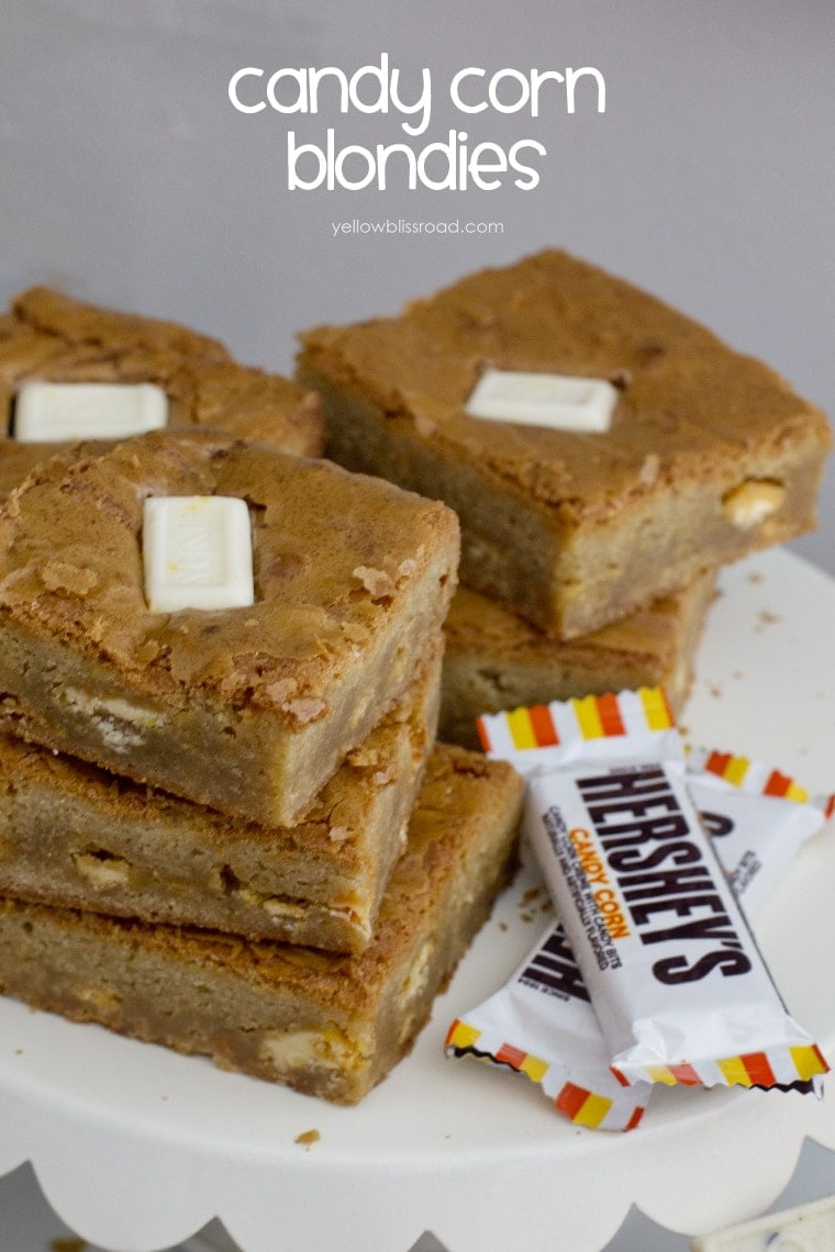 Candy Corn Blondie Bars