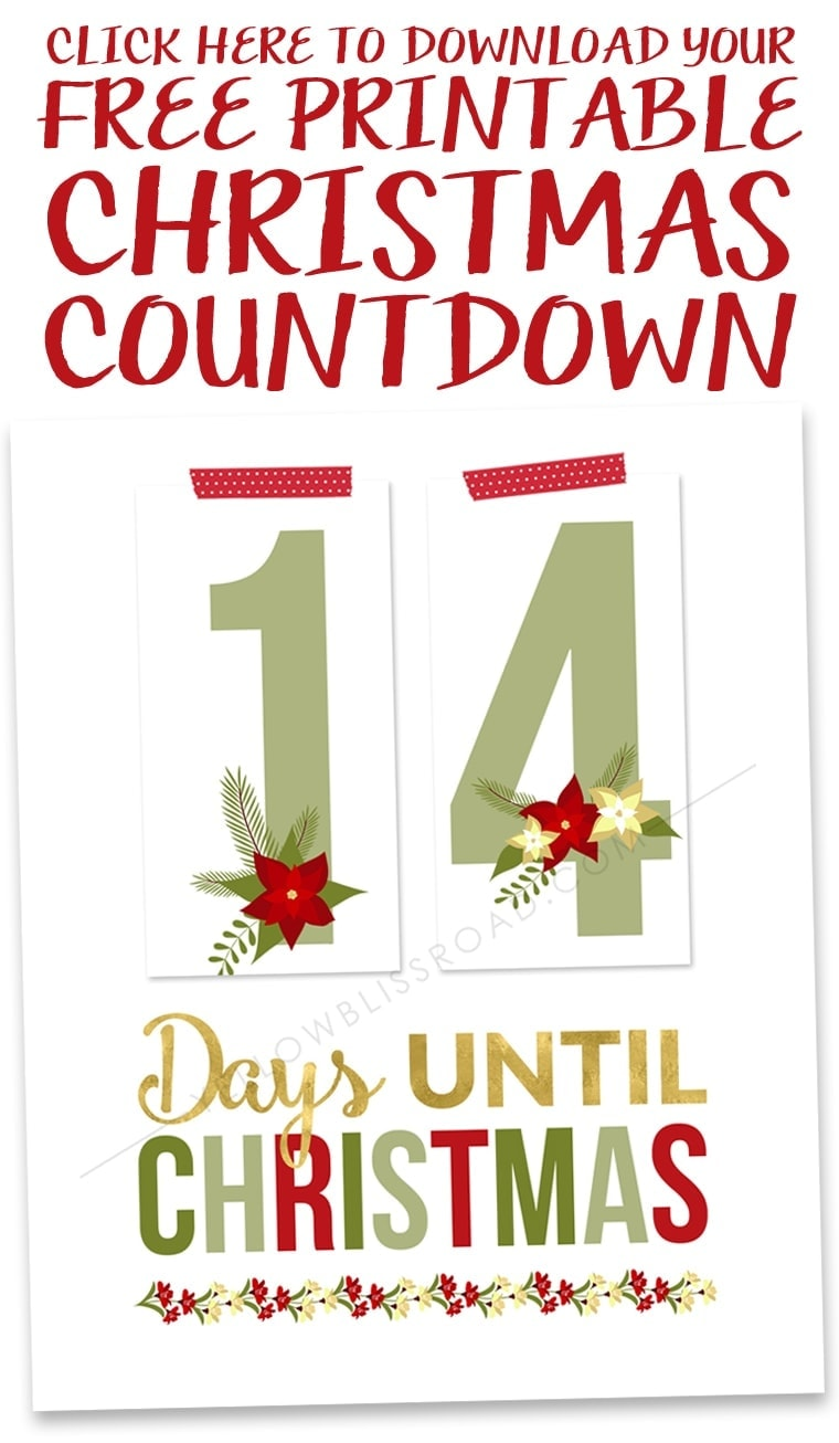 Click to Download the Free Printable Christmas Countdown