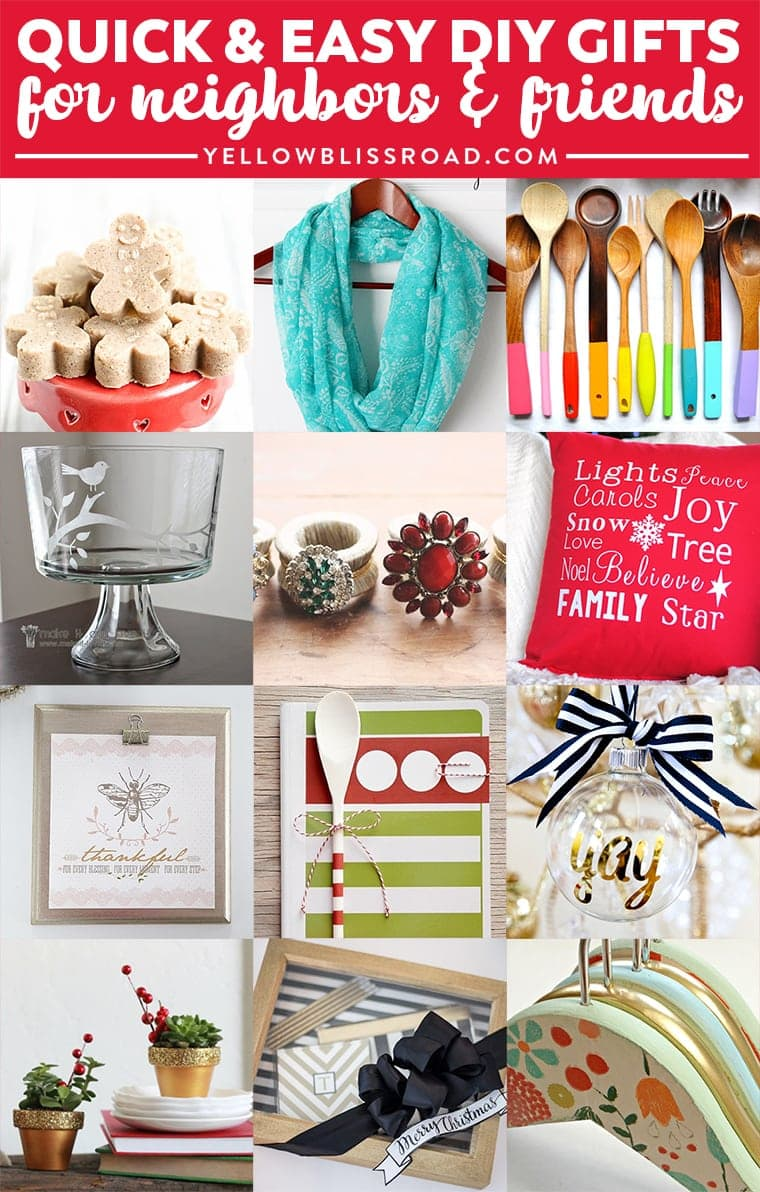 Easy Craft Ideas For Christmas Gifts Part - 36: Quick U0026 Easy Inexpensive DIY Gifts Form Neighbors, Friends Or Teachers