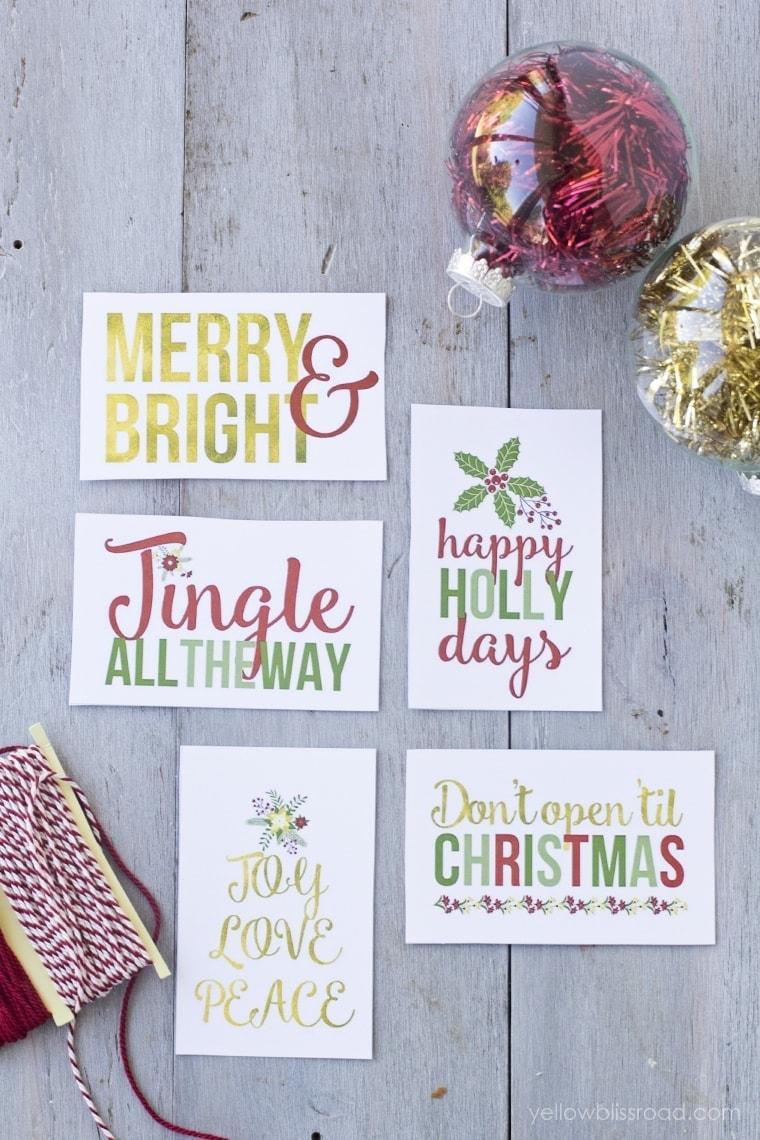 Free Printable Christmas Gift Tags 2
