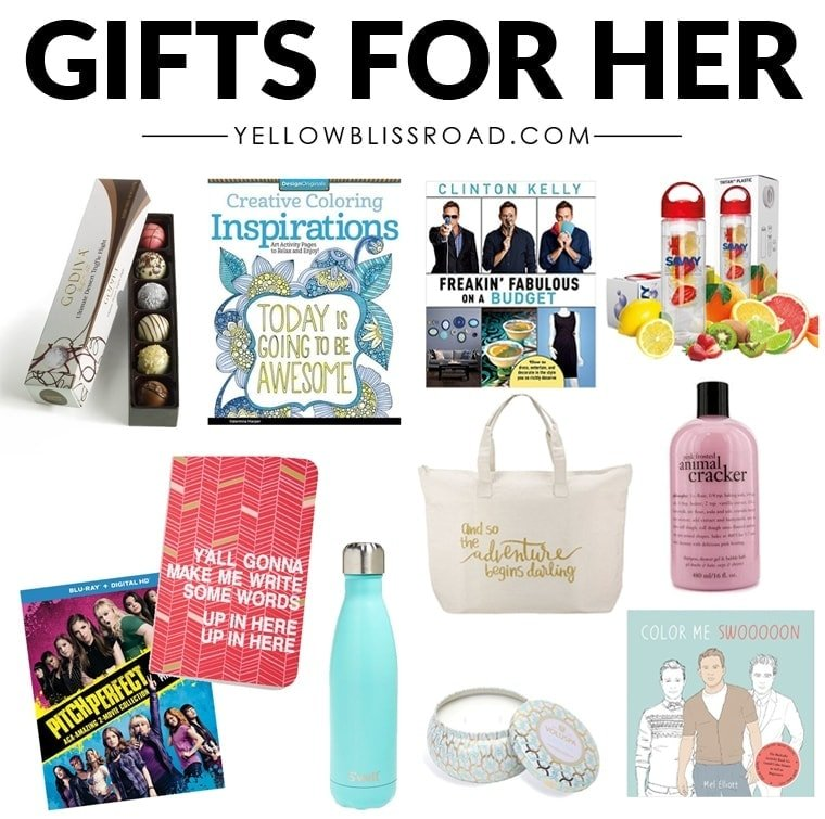 Christmas Gift Ideas for Her (Gifts for Women) | YellowBlissRoad.com