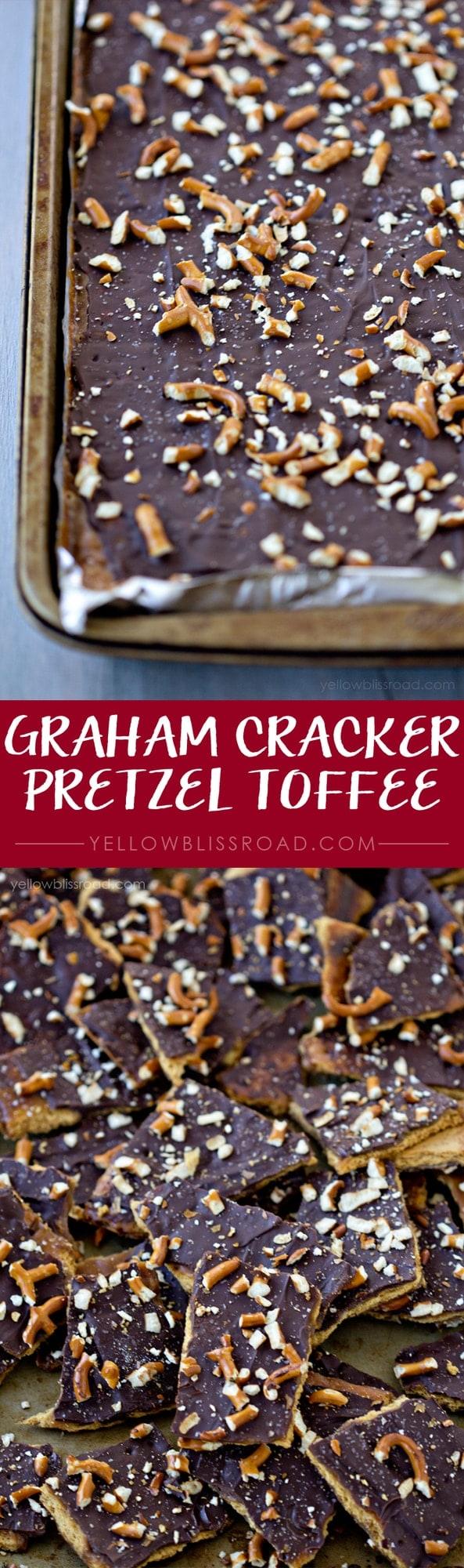 Graham Cracker Pretzel Toffee with Sea Salt