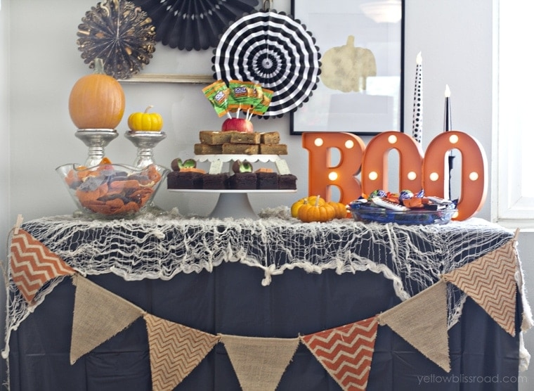 Halloween Party Dessert Table