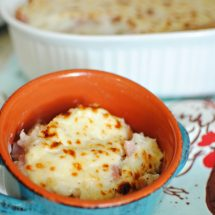 Baked Ham and Cheese Rice Casserole