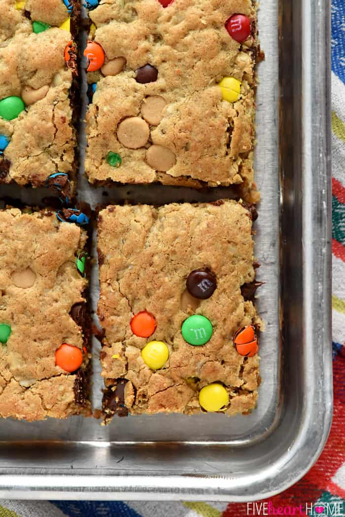 A tray of Monster Cookie Bars