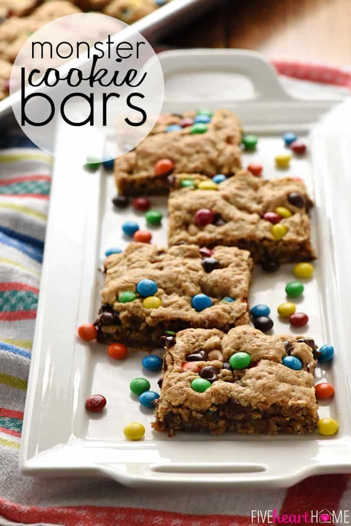 Social media image of Monster Cookie Bars