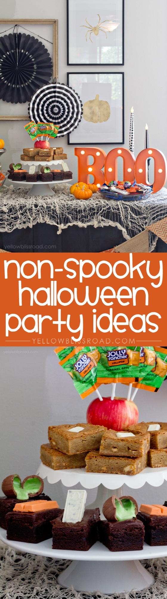 Non-Spooky Hallloween Party Ideas