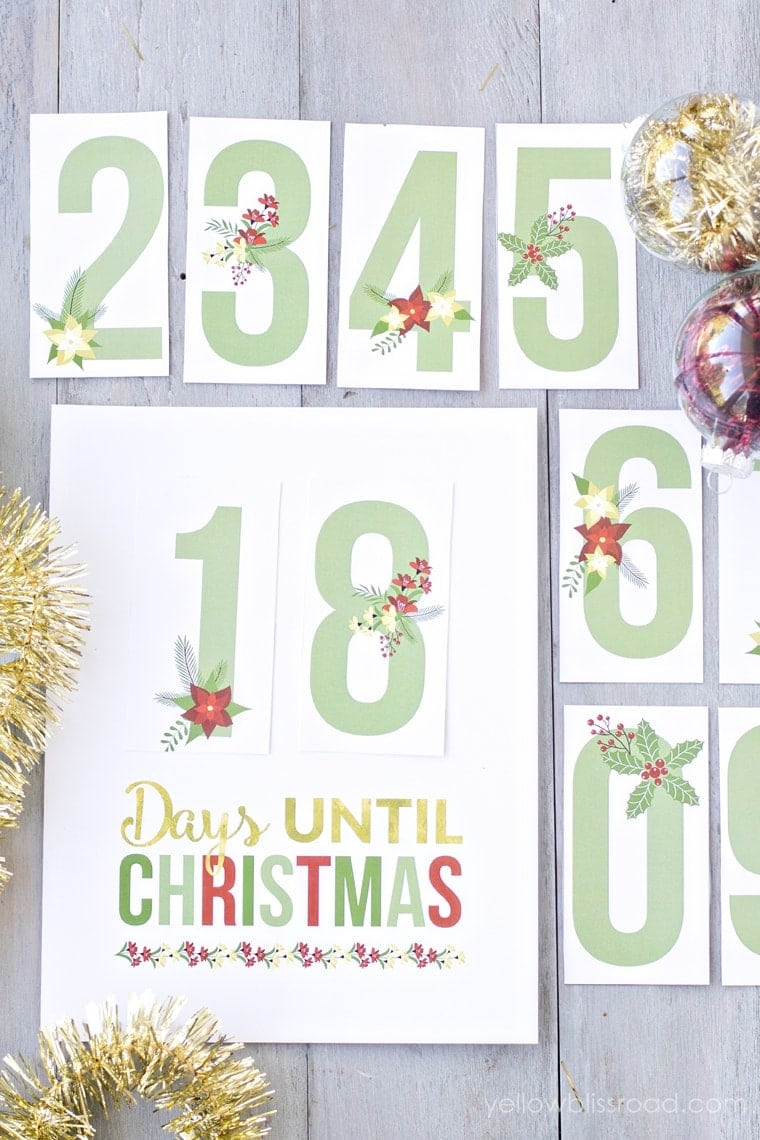 printable christmas countdown 2