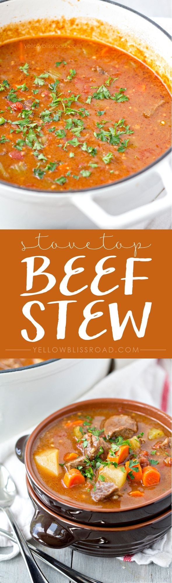 Simple Stovetop Beef Stew - Perfect comfort food for a cold night!