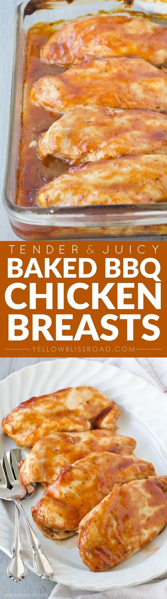 Tender and Juicy Oven Baked Barbecued Chicken Breasts