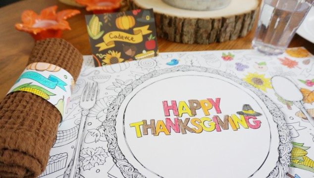 Free Printable Thanksgiving Kids Table