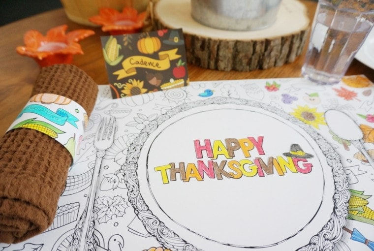 Free Printable Thanksgiving Kids Table