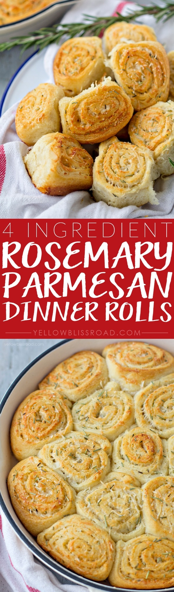 4 Ingredient Garlic Parmesan Rosemary Dinner Rolls made easy with Pillsbury Crescents