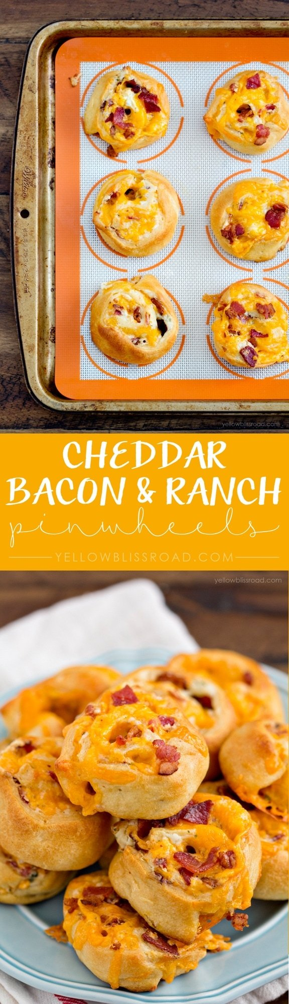 Cheddar Bacon & Ranch Pinwheel Appetizer Recipe - perfect for holiday parties or game day get togethers