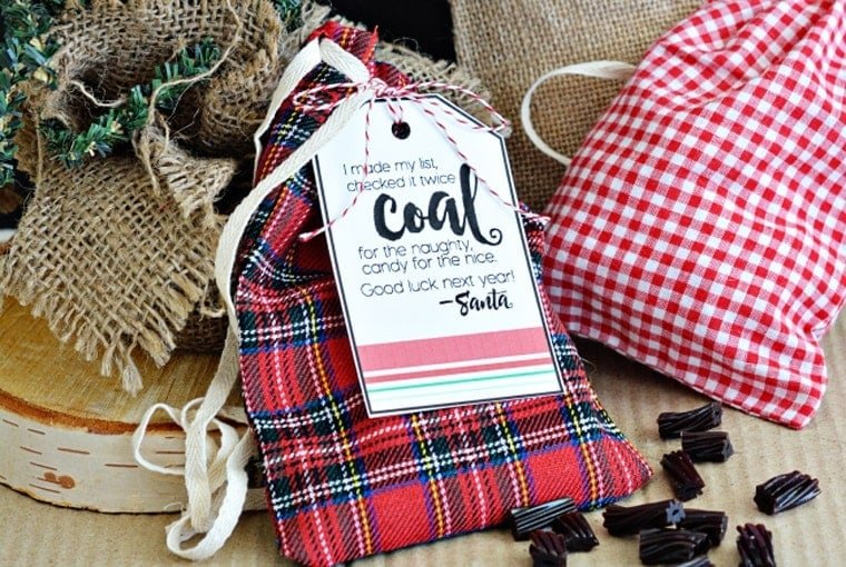 printable coal from santa gift tags