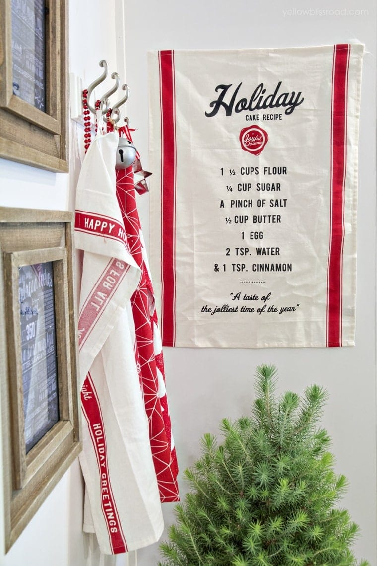 Christmas pantry decor