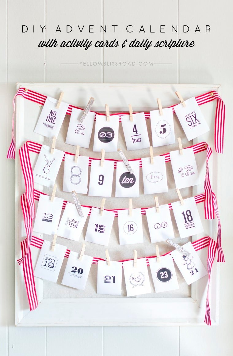 Free Printable Advent Calendar With Activity Ideas Diy