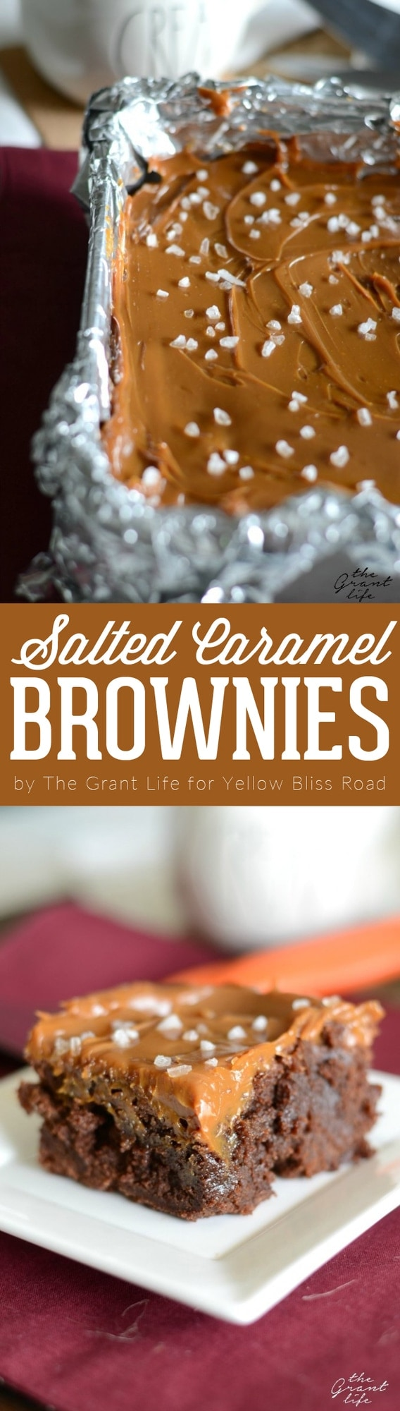 Decadent Salted Caramel Brownies are the perfect dessert recipe for salted caramel lovers - Thick, chewy brownies slathered with creamy salted caramel