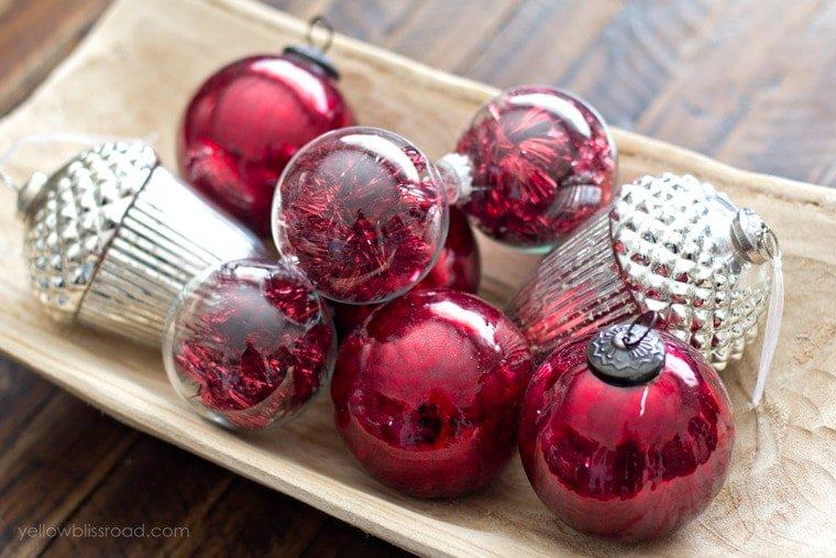 Glass Ornament Centerpiece