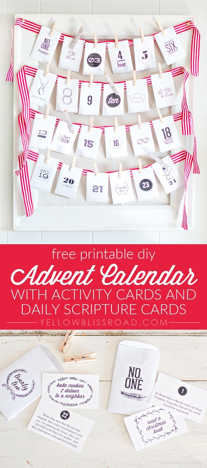 printable diy advent calendar with activity cards and scripture cards - Christmas Card Scripture
