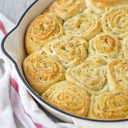 Parmesan Rosemary Dinner Rolls